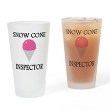Snow Cone Inspector Drinking Glass