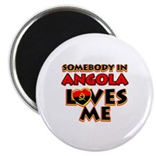 Somebody in Angola Loves me Magnet