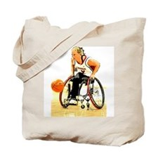 Driving Down the Court Tote Bag