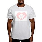 Pig Heart Ash Grey T-Shirt