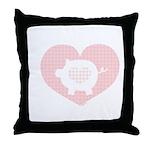 Pig Heart Throw Pillow
