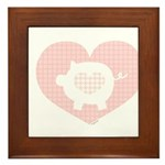 Pig Heart Framed Tile
