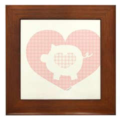 Pig Heart Framed Tile