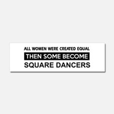 square created equal designs Car Magnet 10 x 3