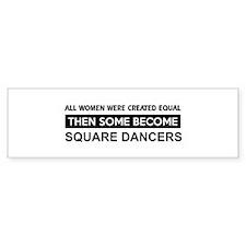 square created equal designs Bumper Bumper Sticker
