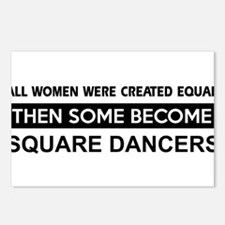 square created equal designs Postcards (Package of