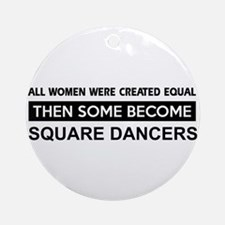 square created equal designs Ornament (Round)