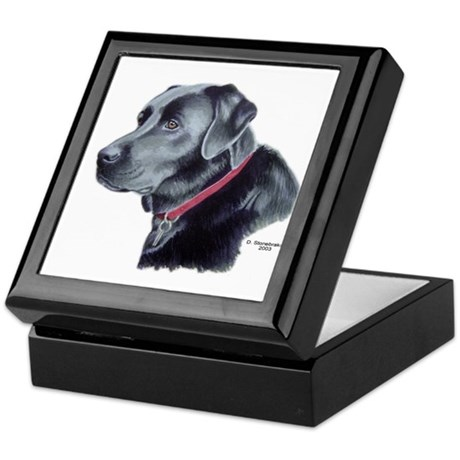 Hawke, Black Labrador Keepsake Box