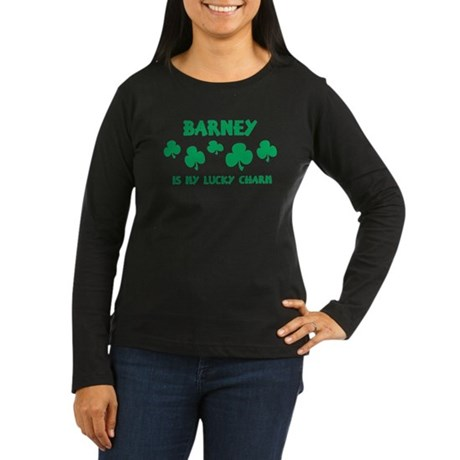 Barney is my lucky charm Women's Long Sleeve Dark