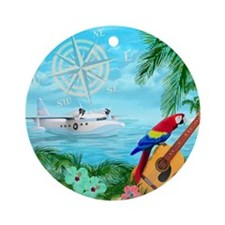 Tropical Travels Ornament (Round)