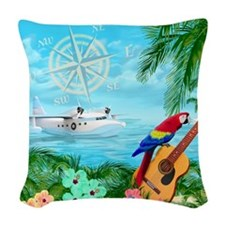 Tropical Travels Woven Throw Pillow