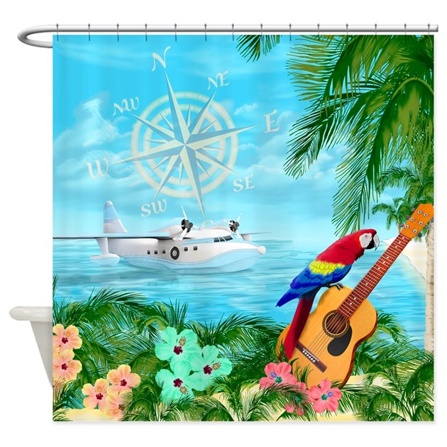 Tropical Travels Shower Curtain By Bailoutisland