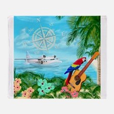 Tropical Travels Throw Blanket
