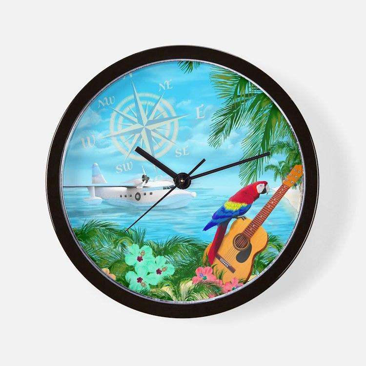Tropical Travels Wall Clock