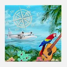 Tropical Travels Tile Coaster
