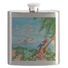 Tropical Travels Flask
