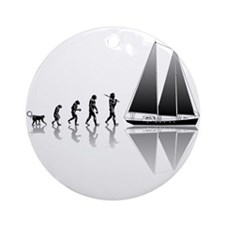 Sailing Evolution Ornament (Round)