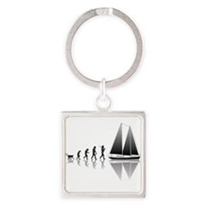 Sailing Evolution Square Keychain