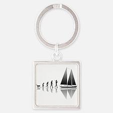 Sailing Evolution Square Keychain