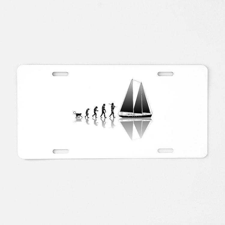 Sailing Evolution Aluminum License Plate