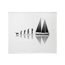 Sailing Evolution Throw Blanket