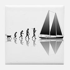 Sailing Evolution Tile Coaster