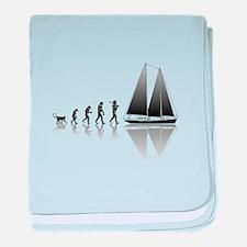 Sailing Evolution baby blanket