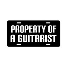 Property of a Guitarist Aluminum License Plate