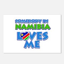 Somebody in Namibia Loves me Postcards (Package of