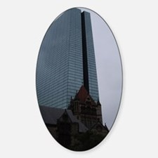 Boston Juxtaposed Sticker (Oval)