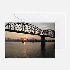 Louisville Bridges Greeting Card