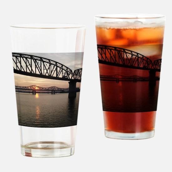 Louisville Bridges Drinking Glass