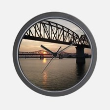 Louisville Bridges Wall Clock