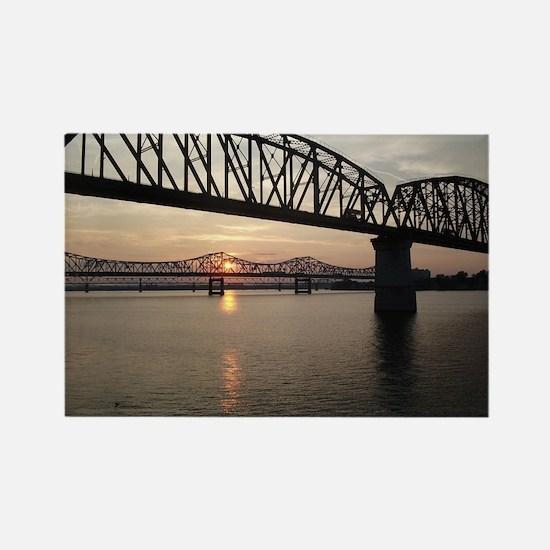 Louisville Bridges Rectangle Magnet