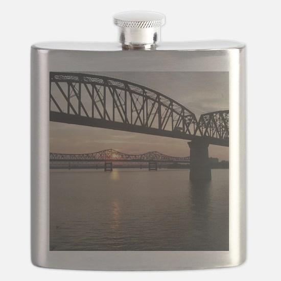 Louisville Bridges Flask