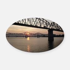 Louisville Bridges Oval Car Magnet