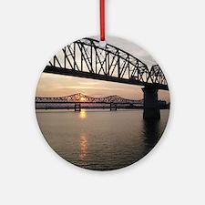 Louisville Bridges Round Ornament