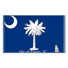 Isle of Palms Rectangle Decal