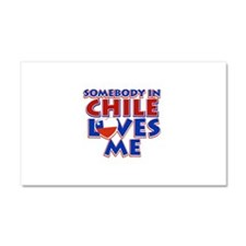 Somebody in Chile Loves me Car Magnet 20 x 12