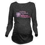 Irrelephant Elephant Long Sleeve Maternity T-Shirt