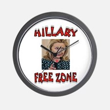 NO HILLARY ZONE Wall Clock