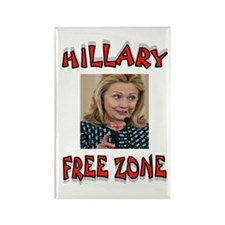 NO HILLARY ZONE Magnets