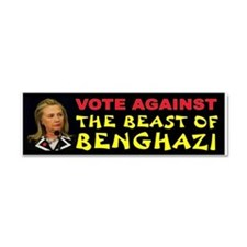 NO HILLARY ZONE Car Magnet 10 x 3