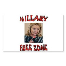 NO HILLARY ZONE Decal