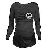 Biker Dark Long Sleeve Maternity T-Shirt