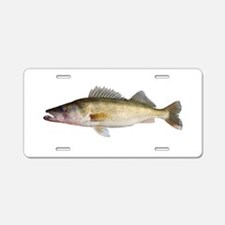 Perfect Walleye 2 Aluminum License Plate
