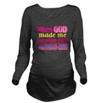 God Showing Off Long Sleeve Maternity T-Shirt