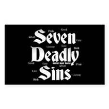 The Seven Deadly Sins Rectangle Decal