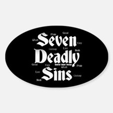 The Seven Deadly Sins Oval Decal