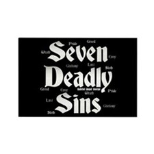The Seven Deadly Sins Rectangle Magnet